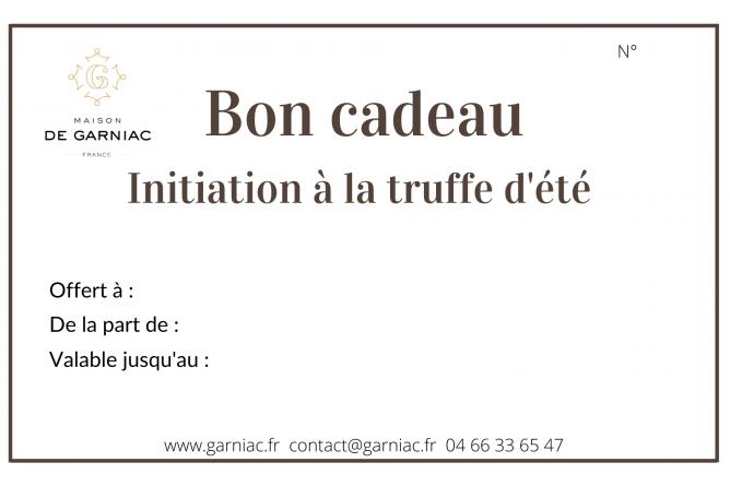 Gift voucher - Initiation to summer truffles