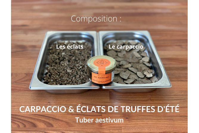 CARPACCIO DE TRUFFES D'ETE  (TUBER AESTIVUM)