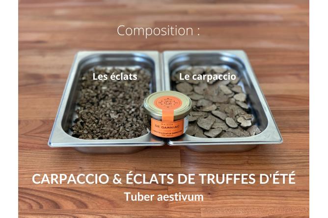 Carpaccio & cubes of Summer Truffles