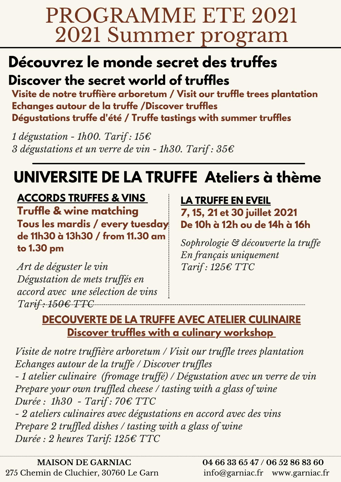 Dégustation truffes et dégustation vins
