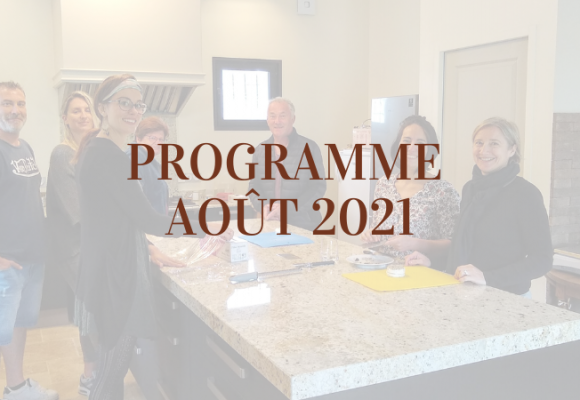 Program of August 2021 at Maison de Garniac.