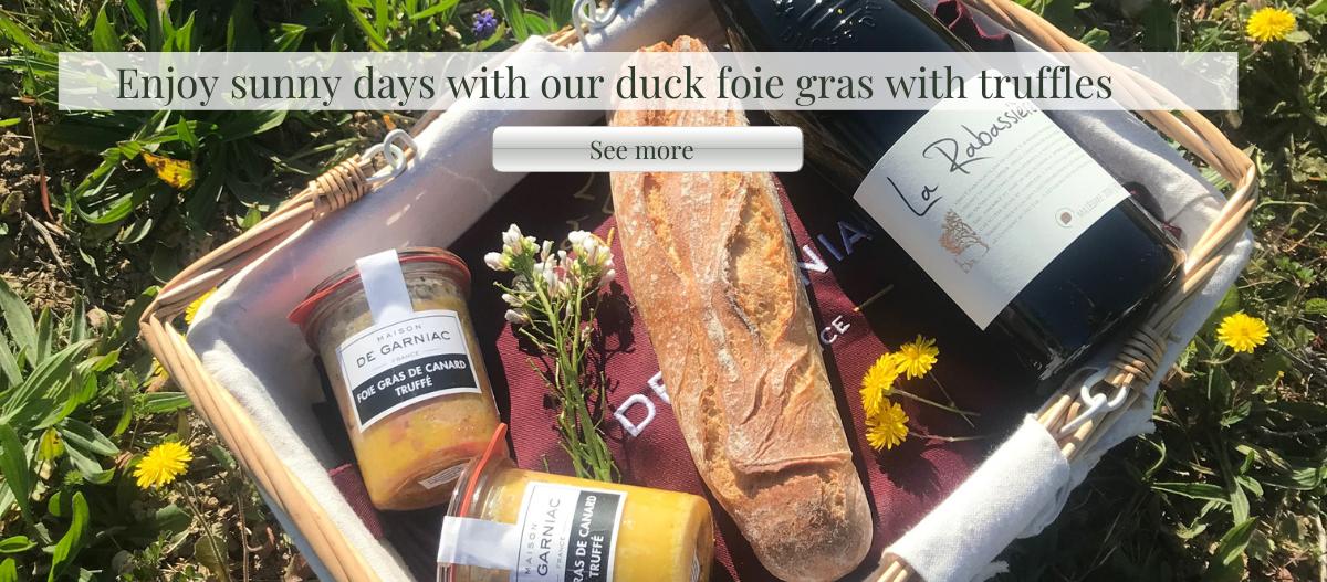 Enjoy sunny days with duck foie gras with truffles Maison de garlic